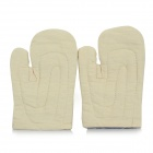 Heat-resistant Fire-resistant Canvas + Cotton Electric Welding Safety Gloves - Beige (Pair)