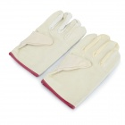 Breathable Anti-skid Thickened Canvas Safety Gloves - White (Pair)