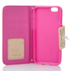 "Stylish Patterned Purse Style PU Case w/ Chain for IPHONE 6 4.7"" - Deep Pink + White"