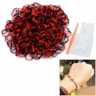 DIY Educational Silicone Rubber Band Bracelet for Children - Black + Red (600 PCS)