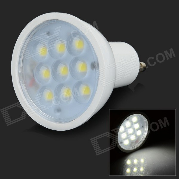 GU10 3W 250lm 6000K 9-5730 LED White Light Spotlight Cup - White (AC 100~240V) gu10 3w 250lm 6000k 9 5730 led white light spotlight cup white ac 100 240v