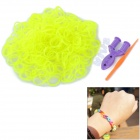 Glow-in-the-Dark DIY Educational Silicone Rubber Band for Children - Yellow Green (300 PCS)