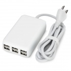 Universal US Plug 5V 6A 6-Port USB Charger - White