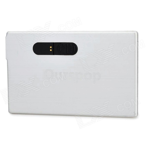Ourspop K-10 USB 2.0 Flash Drive - Branco prateado (4 GB)
