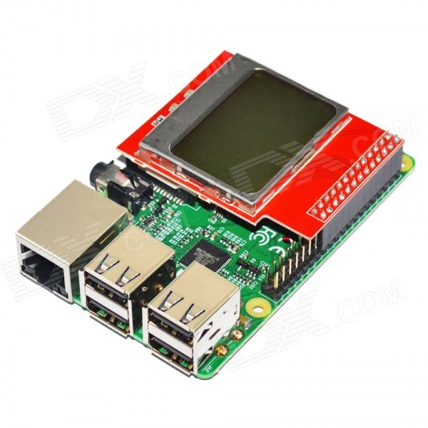 CPU Memory Mini Screen Module 84 x 48 PCD8544 Matrix LCD Shield w/ Backlight for Raspberry Pi B+ / B ipc board pia 662 sent to the cpu memory used disassemble