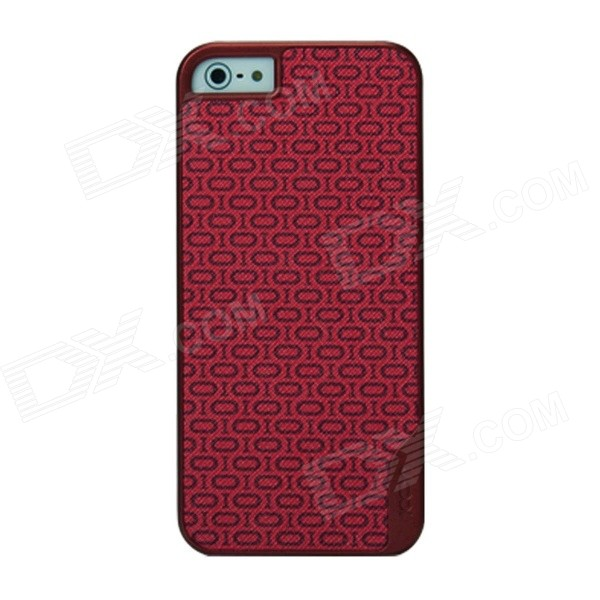 Desoficon PC + PU Protective Back Case Cover for IPHONE 5 / 5S - Red elegance tpu pc hybrid back case with kickstand for iphone 7 plus 5 5 inch red
