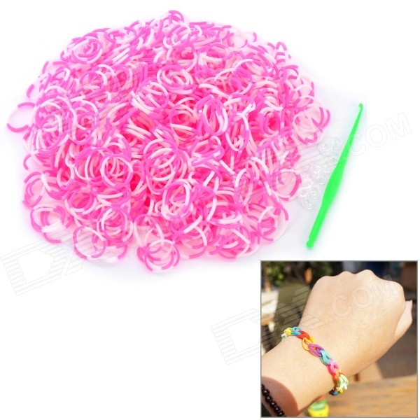 diy-educational-silicone-rubber-band-bracelet-for-children-white-pink-600-pcs