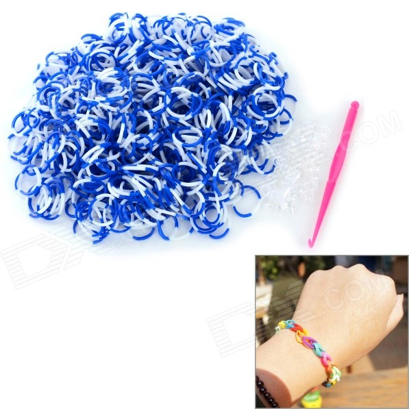 diy-educational-silicone-rubber-band-bracelet-for-children-blue-white-600-pcs