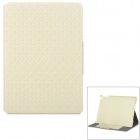 Buy Grid Pattern Protective Artificial Leather Flip-Open Case Stand IPAD AIR - White