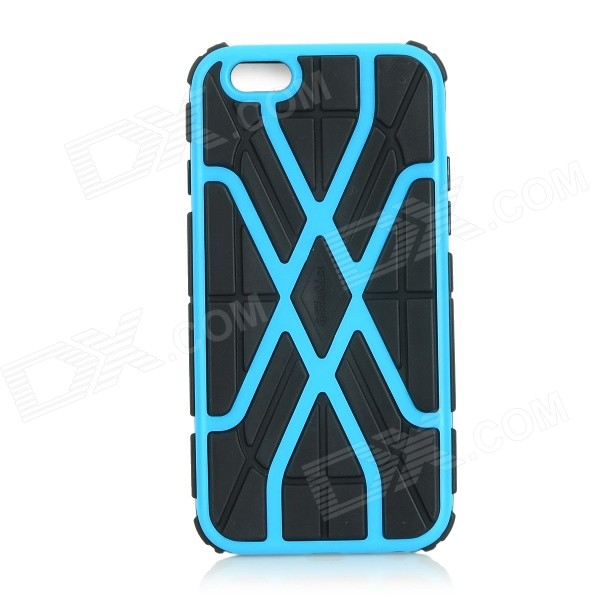 Protective 2-in-1 Web Style TPU + PC Back Case Cover for IPHONE 6 - Blue + Black 2 in 1 detachable protective tpu pc back case cover for samsung galaxy note 4 black