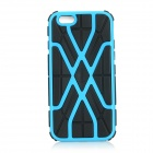 Protective 2-in-1 Web Style TPU + PC Back Case Cover for IPHONE 6 - Blue + Black