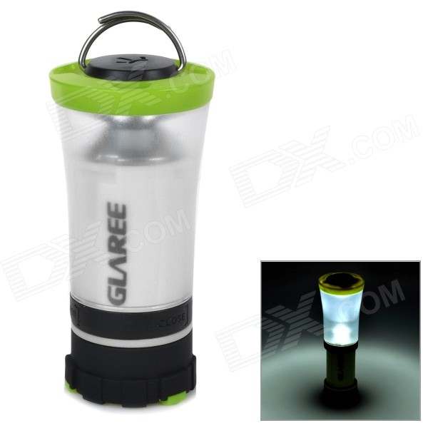 GLAREE C3 105lm LED Warm White Light Portable Outdoor Camping Lantern Lamp - Green (4 x AA)