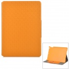 Buy Grid Pattern Protective Artificial Leather Flip-Open Case Stand IPAD AIR - Orange