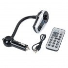 "0.8"" Screen Bluetooth V3.0 Car FM Transmitter w/ Hands-free Calls / MP3 Player - Black + Silver"