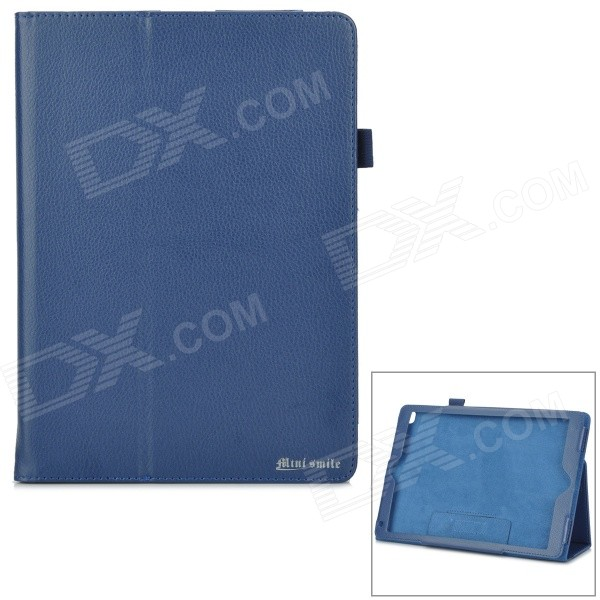 все цены на Protective PU Flip-Open Case w/ Stand for IPAD AIR 2 - Deep Blue онлайн