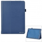 Protective PU Flip-Open Case w/ Stand for IPAD AIR 2 - Deep Blue