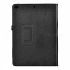 Protective PU Flip-Open Case w/ Stand for IPAD AIR 2 - Black