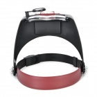 10X Adjustable Headband Magnifier w/ LED Light - Black + Reddish Brown (2 x AAA)