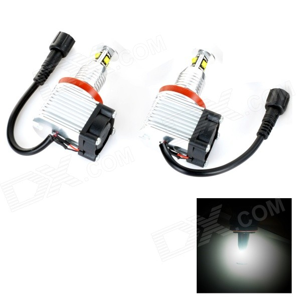 H8 40W 1800LM 7000K White Light LED Angle Eyes Car Lamp for BMW E90 / E91 / E92 / E93 (2 PCS) 2xcar styling car led sticker carbon fiber paper fender turn signal lamp for bmw e46 e82 e87 e88 e90 e91 e92 e60 e61 accessories