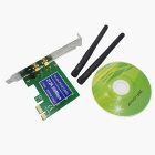 802.11b/g/n 300Mbps PCI-Express Wireless Adapter Card with Dual Antenna