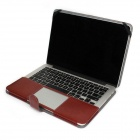 "Protection en cuir PU Rabat ouvert Case pour MacBook Pro 13,3 ""ordinateur portable - Brown"