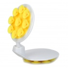 360 Degree Rotational Car Windshield Mount w/ Dual-Side Suction Cups for Cell Phone - Yellow + White