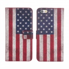 Stylish U.S. Flag Pattern Flip-open PU Leather Case w/ Holder + Card Slot for IPHONE 6 PLUS 5.5""