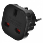 UK to EU AC Power Travel Plug Adapter Socket Converter - Black (240V)