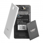 "CUBOT S168 quad-core Android 4.4 WCDMA Bar Phone w / 5.0 ""IPS QHD, 8 Go ROM, connexion Wi-Fi, GPS-Blanc"