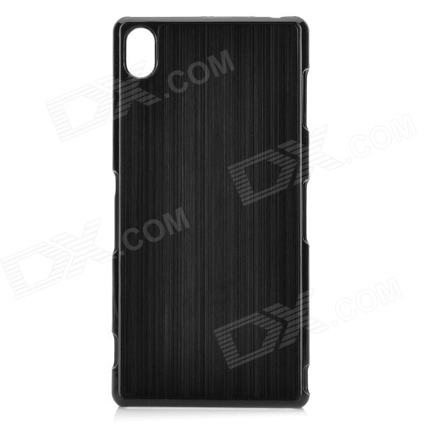 Protective Wire-drawing Finish Aluminum Alloy Back Case for Sony Xperia Z3 / L55T - Black