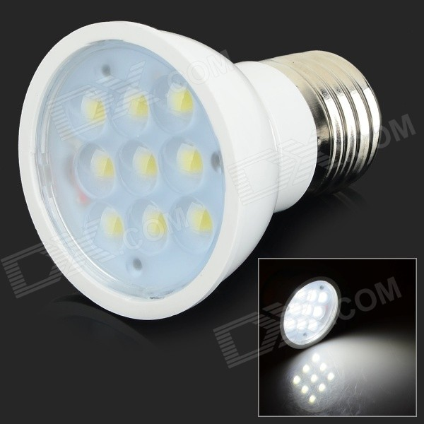 E27 3W 250lm 6000K 9-SMD 5730 LED White Light Lamp - White (85~245V)