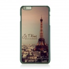 Ultra-thin Night View of Paris Pattern Protective Back Case for IPHONE 6 PLUS - Gray + Yellow