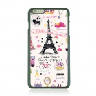 Ultra-thin Graffiti Paris Pattern Protective Back Case for IPHONE 6 PLUS - White + Black