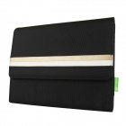 Mallper MP-BC01 Brief Canvas Case Carrying Bag for IPAD - Black + Champagne