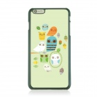 Ultra-thin Cartoon Owl Pattern Back Case for IPHONE 6 PLUS - Green + White