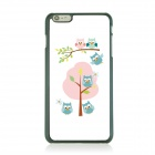 Ultra-thin Cartoon Owl Pattern PC Back Case for IPHONE 6 PLUS - White + Pink