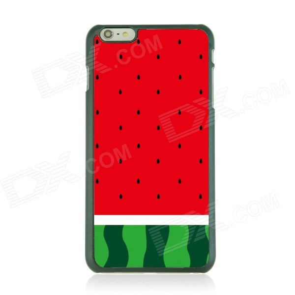 Ultra-thin Watermelon Pattern Protective Back Case for IPHONE 6 PLUS - Red + Green watermelon pattern protective pc back case for iphone 6 4 7 red green multi color