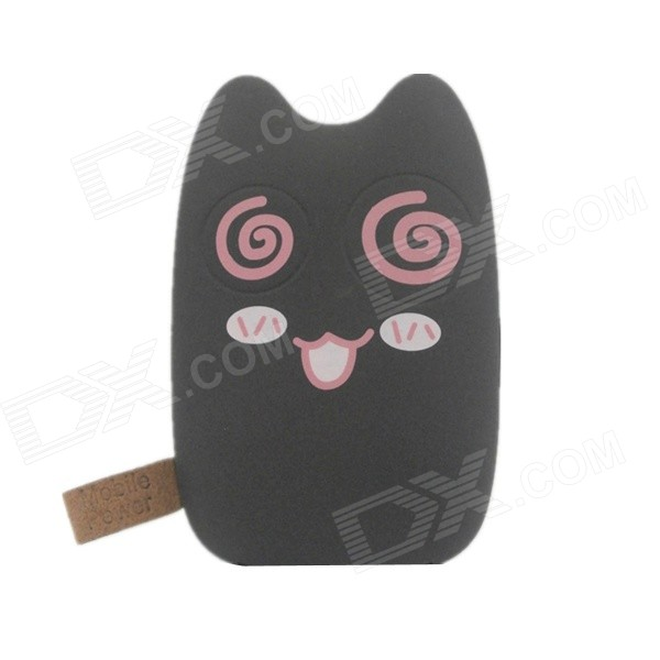 все цены на Cute Cat Style Dual-USB 4000mAh Li-ion Power Bank for iPhone iPad + More - Brown онлайн