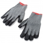 Durable Anti-Slip Working Latex Coated Safety Gloves - Black + Grey (Pair)