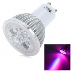 GU10 4W 200lm 3-LED Red 1-LED Blue Light Plant Growth Lamp Spotlight - White + Silver (AC 100~240V)