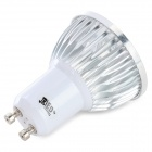 GU10 4W 200LM 3-LED de Plantas Red 1-LED Blue Light Lâmpada Crescimento Spotlight - Branco + Prata (AC 100 ~ 240V)