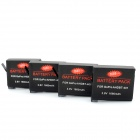 3.8V Li-ion Battery for GoPro Hero 4 - Black (4PCS, 1350mAh)