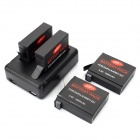 Dual-Slot Battery Charger + 4 x 1680mAh 3.8V Batteries + USB Charging Cable Kit for GoPro Hero 4