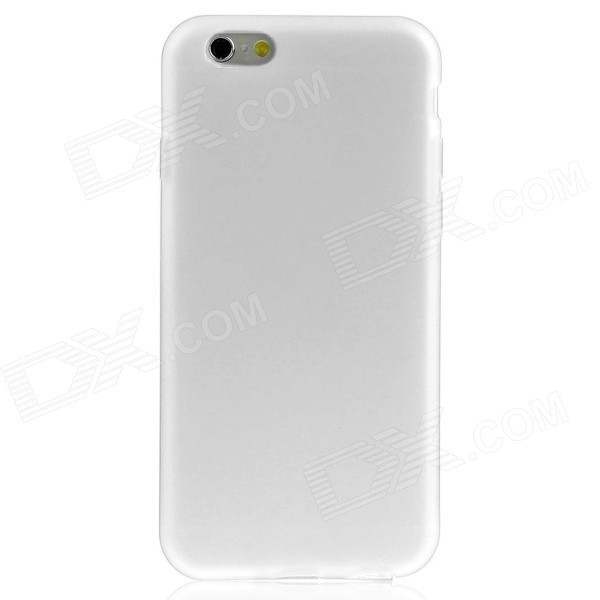 Protective TPU Soft Case Back Cover w/ Anti-dust Plugs for IPHONE 6 4.7 - White protective pc tpu back case for iphone 5 w anti dust cover white light green