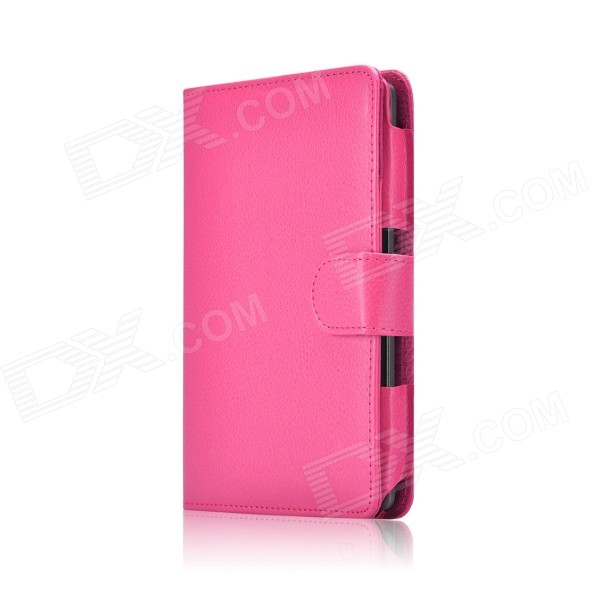 Protective PU Leather Flip Case Cover for Amazon Kindle Voyage 6'' - Deep Pink