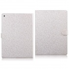 Diamond Pattern PU Leather Flip Case with Mount Stand & Credit Card Slots for IPAD AIR 2 - White