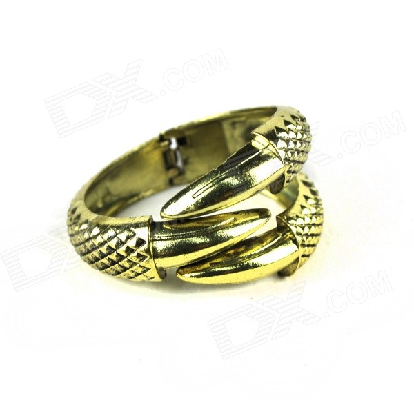Punk Style China Dragon Claw Shaped Zinc Alloy Bracelet - Bronze claw of dragon style rings golden bronze 3 pcs
