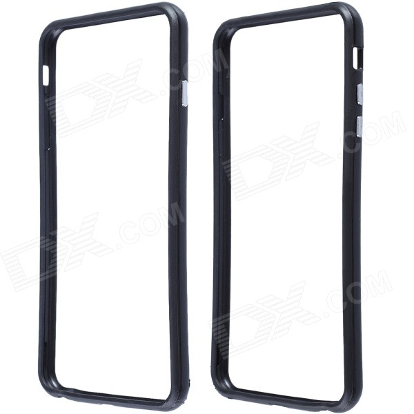 Protective Plastic Bumper Frame Case for IPHONE 6 Plus - Black stylish protective plastic bumper frame case for iphone 5c beige black