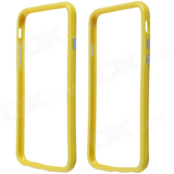 Protective Plastic Bumper Frame Case for IPHONE 6 - Yellow