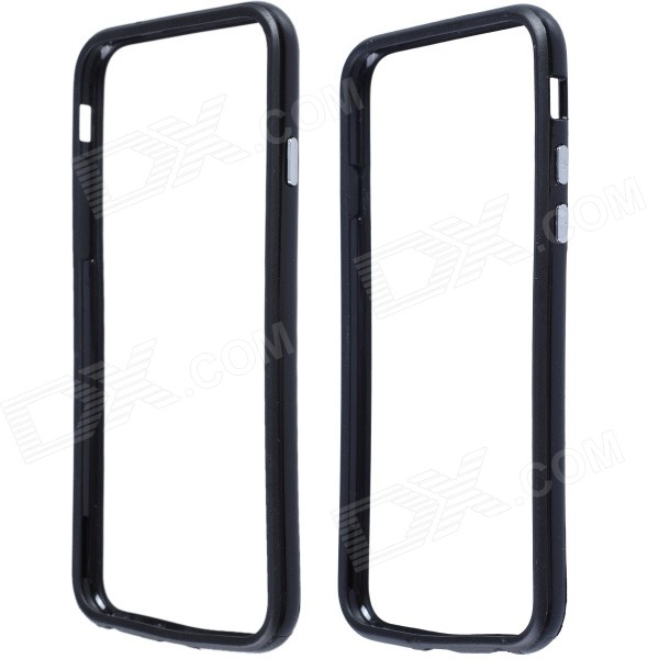 Protective Plastic Bumper Frame Case for IPHONE 6 4.7 - Black stylish protective plastic bumper frame case for iphone 5c beige black